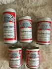Budweiser flat top empty steel beer cans. Great shape an icon can to have!