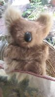 Vintage Koala Bear,real fur,24 cms high good condition,fur great