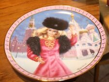 "Barbie Plate ""Barbie visits Russia"" Elaine Gignilliat"
