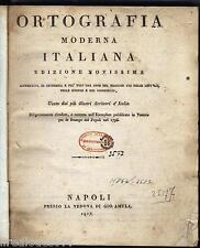 Ortografia moderna italiana Jacopo Facciolati Presso la Vedova gio amula 1817