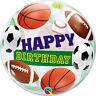 Qualatex HAPPY BIRTHDAY BUBBLE Balloons - Helium Party Balloon Decoration