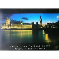 """LONDON - HOUSES OF PARLIAMENT POSTER - WESTMINSTER - 91 x 61 cm 36 x 24"""""""