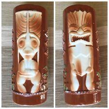 Vintage Fred Roberts Tiki Mug Double sided Barware Hawaiiana Lounge Mai Tai Rare