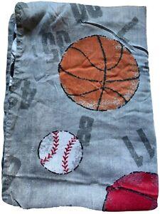 Vintage Boy  Twin Flat Sheet Bed Sports American Football E81