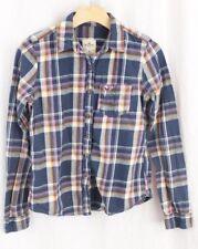 HOLLISTER Blue Pink Plaid Flannel Button Shirt Junior Womens Medium
