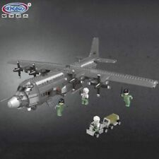1716Pcs Military Series The Ac130 Aerial Gunboat Airplane Building Blocks Bricks