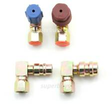 2pc High Low Side Convert R12 to R134a Adapter A/C Quick Fitting Coupler ELBOW