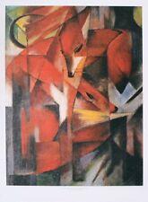 Franz Marc Füchse, 1913 Poster Bild Kunstdruck 55x39cm - Kostenloser Versand