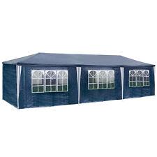 Pavillon Bierzelt 3x9m 9x3m blau Partyzelt Gartenzelt Festzelt Gartenpavillon