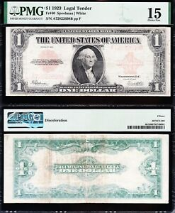 Scarce 1923 $1 RED SEAL Legal Tender US Note! FREE SHIPPING! PMG 15! A72822698B