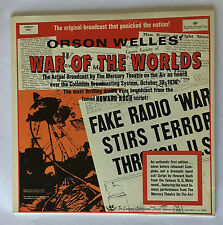Orson Welles War of the Worlds Brodcast by The Mercury Theatre Stereo LP (NM)