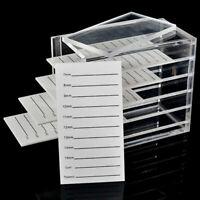 False Eyelashes Storage Box 5 Layers Acrylic Pallet Lash Holder Display Sta.ch