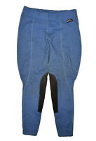 Kerrits Horseback Riding Pants Womens M Blue Herringbone Equestrian Breeches
