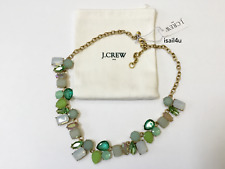 J.Crew Factory Sea Glass Crystal Collage Necklace NWT AUTHENTIC With Pouch