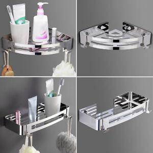 Bathroom Wall Shelves Shower Caddy Shelf Rack Stainless Steel Storage Organizer