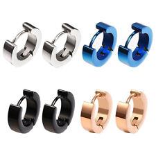 4 Pairs Stainless Steel Mens Womens Small Hoop Earrings Hypoallergenic Pierci8i9