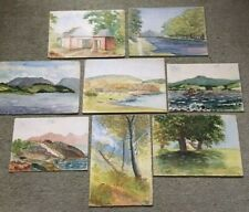 JOB LOT 1940s ORIGINAL WATERCOLOURS UNFRAMED SIGNED PEDRO