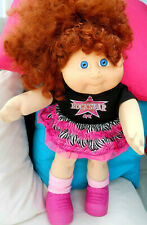 VINTAGE  CABBAGE  PATCH GIRL  RED SIG. WILD RED CURLS IN 1 HI PONY CUTE FACE