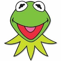 """KERMIT The Frog Muppets Jim Henson  Vinyl Sticker Decal 2 Pack of 2.5"""""""