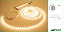 5 metros LED stripe rayas lámpara banda 5mm & transformador blanco cálido profesional ww5-60