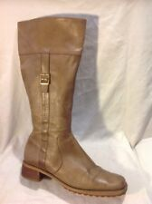 Dolcis Brown Knee High Leather Boots Size 40