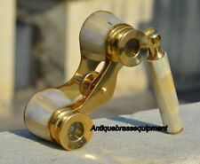 A Details about  VINTAGE BRASS MOTHER OF PEARL BINOCULAR MARITIME NAUTICAL PIRAT