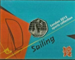 OLYMPIC/SAILING 50P COIN BU carded royal mint bunc