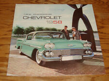Original 1958 Chevrolet Full Line Deluxe Sales Brochure 58 Chevy Bel Air Impala