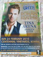 RONAN KEATING TINA ARENA DAY ON THE GREEN 2010 AUSTRALIAN TOUR POSTER MINT