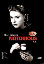 Notorious DVD 1946 Cary Grant Ingrid Bergman Drama Thriller Nr Black & White