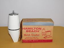 VINTAGE KITCHEN HAMILTON BEACH QUICK CRUSHER ICE ATTACHMENT IN BOX UNUSED