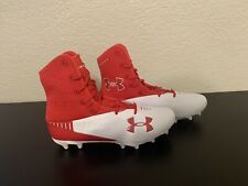 New listing UNDER ARMOUR  HIGHLIGHT SELECT D FOOTBALL CLEATS BLACK WHITE MEN SIZE 12 2E WIDE