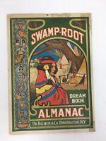 1932 Swamp Root Almanac Dr Kilmer Advertising Wilsons Pharmacy Flint Michigan