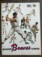 1963 MILWAUKEE BRAVES MLB BASEBALL YEARBOOK VERY RARE NATIONAL LEAGUE