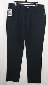 FOOTJOY Athletic Fit Blue Performance Mens Golf Pants Size 35x33 (Tag 35X34) NWT