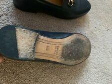 Authentic black gucci leather shoes