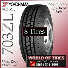 Yokohama Commercial Tires 703ZL 22.5lp 8 Tires $462 Each FREE SHIPPING
