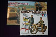 Tamiya German Motorcycle Orderly Set & 3 Dragon Officers 1:35 scale model kits.