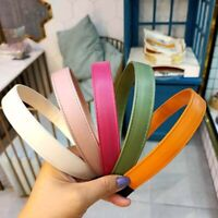 Fashion Headwear PU Leather Hair Hoop Hairband Wash Face Pressure Headband`
