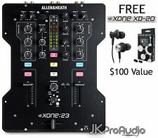 ALLEN & HEATH XONE:23 Two Channel DJ mixer w/ FREE XD-20 Headphones Xone 23 NEW