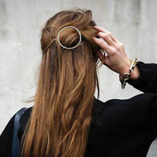 Women Geometric Hair Clip Boho Circle Hair Pins Accessories Wedding Jewellery