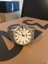 New Nixon Men's Chronicle 44 Analog Display Swiss Quartz Silver/white Watch