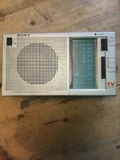 Vintage Sony ICF-770W TV Weather FM AM 3 Band Radio Receiver TV Sound Portable