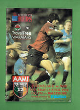 #Bb. Rugby Union Program 1998 - Qld vs Nsw Waratahs 12's
