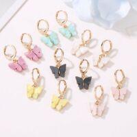 Butterfly Acrylic Earrings Elegant Women Boho Dangle Drop Earring Jewelry Hot