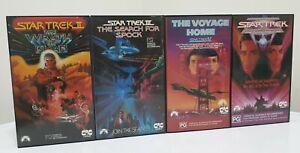 Star Trek VHS 4x Movie Bundle PAL Wrath Khan Search Spock Voyage Home Frontier