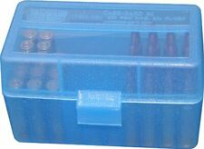 Mtm Plastic Ammo Boxes (3) Clear Blue 50 Round 223 / 5.56 / More-Free Shipping
