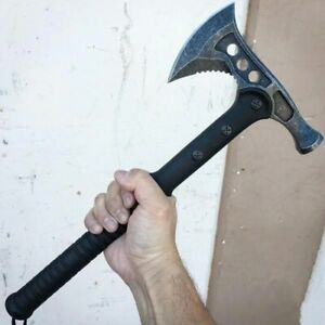 Handmade Carbon Steel Axe Army Tactical Tomahawk Camping Outdoor Hand Tools