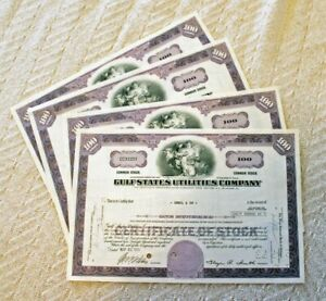 4 ORIG. MAY 1970 GULF-STATES UTILITIES COMPANY COMMON STOCK CERTIFICATES