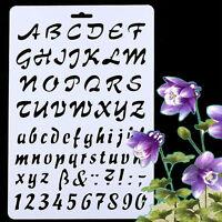 Stencil Alfabeto mascherina lettere numeri caratteri decorazione parete pittura